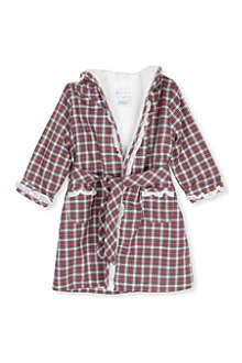 RALPH LAUREN Tartan printed bathrobe 3-9 months