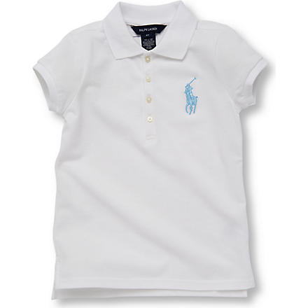 RALPH LAUREN Big Pony polo shirt 2-7 years (White