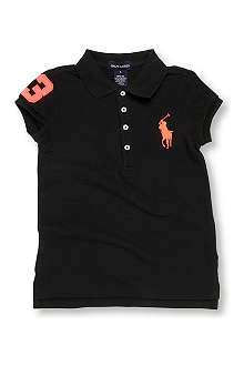 RALPH LAUREN Neon number polo shirt 2-7 years