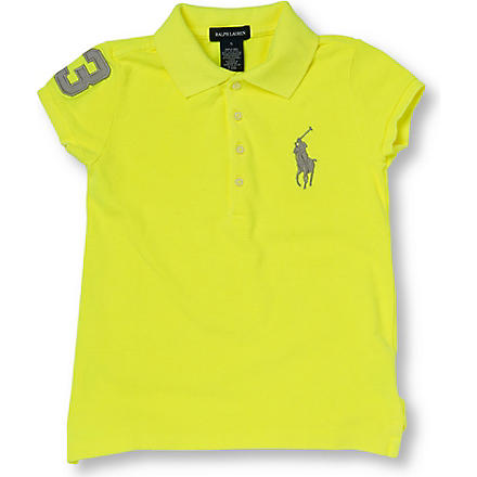 RALPH LAUREN Neon number polo shirt 2-7 years (Yellow
