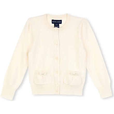 RALPH LAUREN Cashmere cardigan 2-4 years (Cream