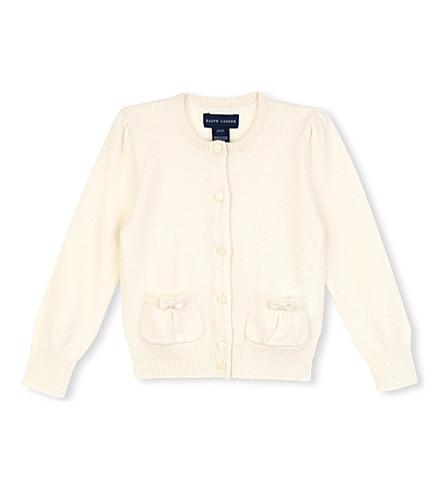 RALPH LAUREN Cashmere cardigan 2-4 years (Cream