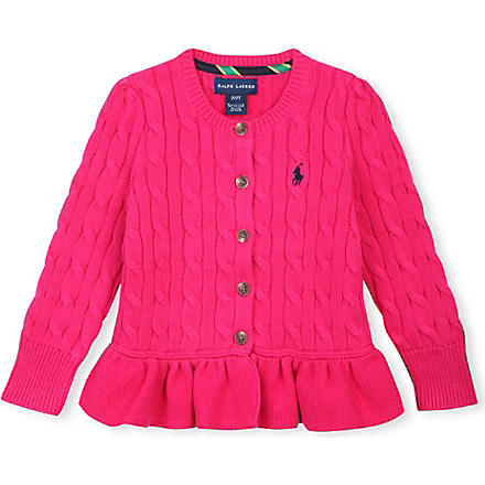 RALPH LAUREN Peplum cardigan 2-4 years (Currant