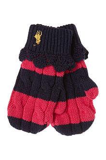 RALPH LAUREN Rugby mittens