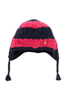 RALPH LAUREN Rugby striped earflap hat