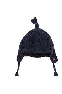 RALPH LAUREN Aran cable knit earflap hat