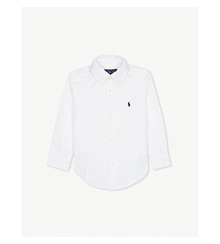 RALPH LAUREN Blake logo-detail cotton shirt 2-4 years (White