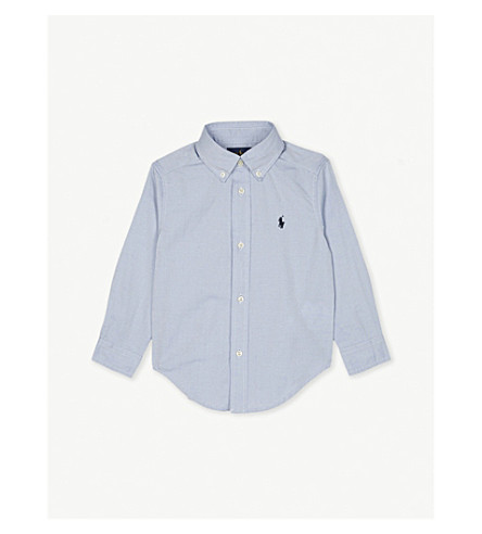 RALPH LAUREN Blake logo-detail cotton shirt 2 - 4 years (Bsr+blue