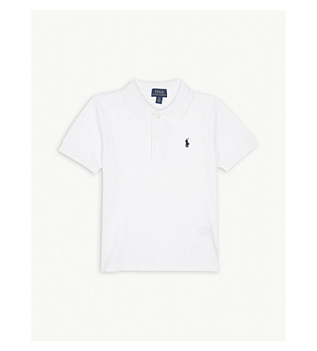 RALPH LAUREN Classic cotton-piqué polo shirt 2 - 4 years (White