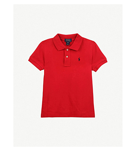 RALPH LAUREN Classic cotton-piqué polo shirt 2 - 4 years (New+red