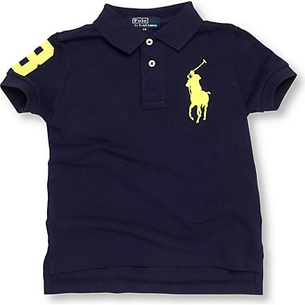 RALPH LAUREN Neon number polo shirt 2-7 years (Navy