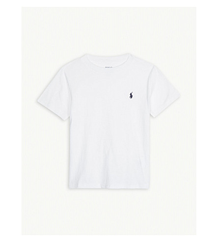RALPH LAUREN Logo-detail cotton-jersey t-shirt 2 - 4 years (White
