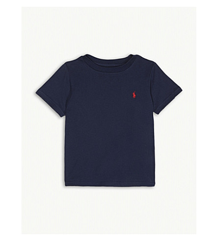 RALPH LAUREN Logo-detail cotton-jersey t-shirt 2 -4 years (Cruise+navy
