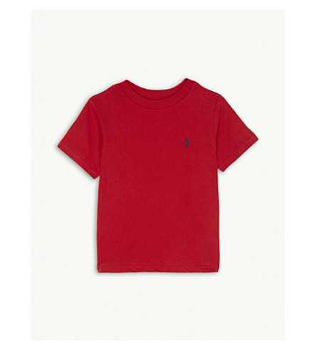 RALPH LAUREN Logo-detail cotton-jersey t-shirt 2 - 4 years (Rl+2000+red