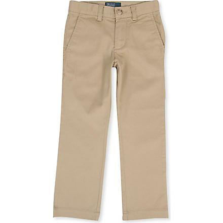 RALPH LAUREN Skinny-fit chino trousers 3-4 years (Khaki
