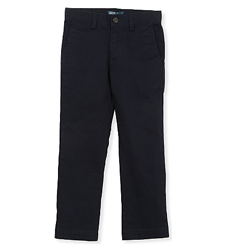 RALPH LAUREN Skinny-fit chino trousers 3-4 years (Navy