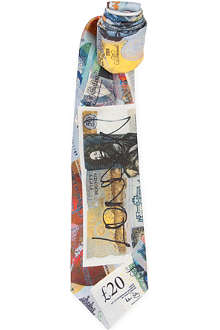 VIVIENNE WESTWOOD Bank note silk tie
