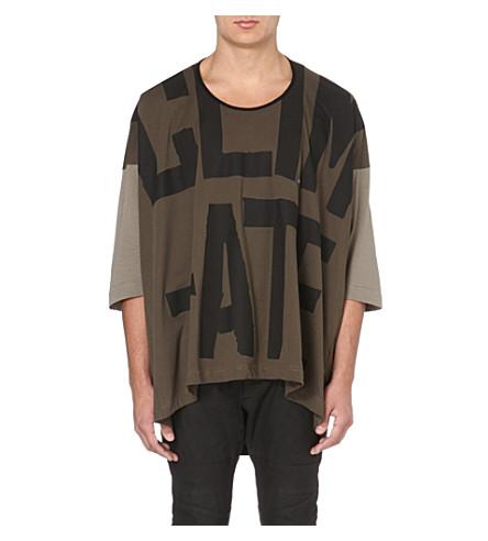 VIVIENNE WESTWOOD Revolution oversized cotton t-shirt (Green