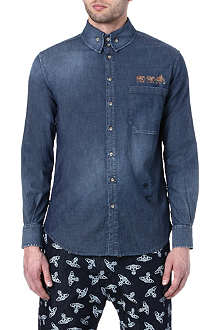 VIVIENNE WESTWOOD Elephant-embellished denim shirt