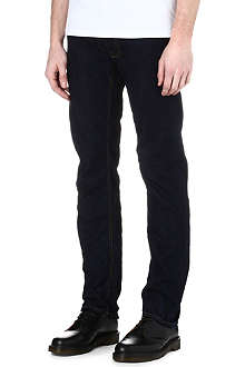VIVIENNE WESTWOOD Orb-embroidered slim-fit jeans