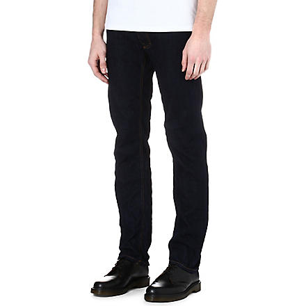 VIVIENNE WESTWOOD Orb-embroidered slim-fit jeans (Denim