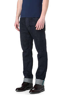 VIVIENNE WESTWOOD Patchwork slim-fit straight jeans