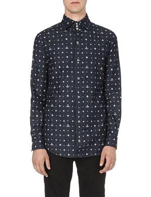 VIVIENNE WESTWOOD Orb-print denim shirt