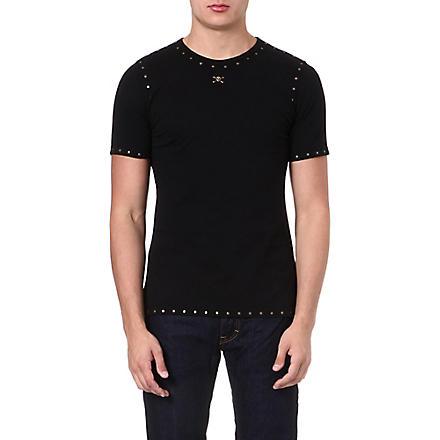 VIVIENNE WESTWOOD Studded skull-detailed t-shirt (Black