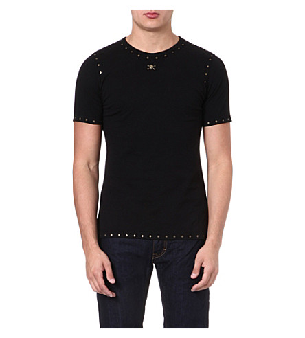 VIVIENNE WESTWOOD Studded skull-detailed t-shirt (Black