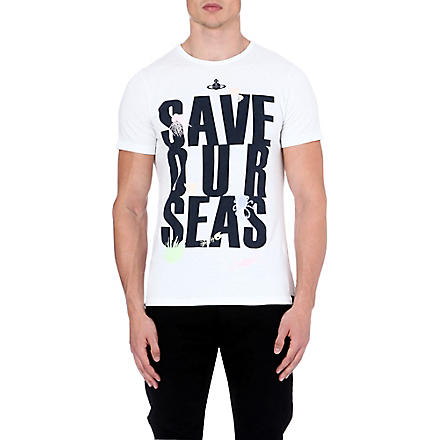 VIVIENNE WESTWOOD Save Our Seas t-shirt (White
