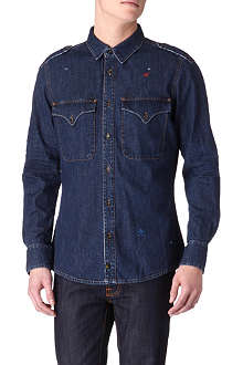 VIVIENNE WESTWOOD Military denim shirt