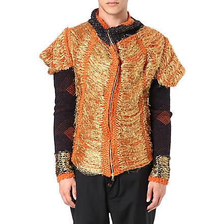 VIVIENNE WESTWOOD Panelled cardigan (Beige