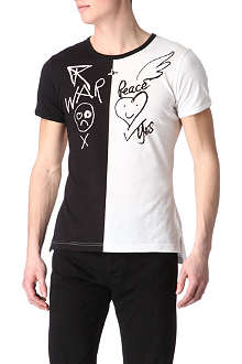 VIVIENNE WESTWOOD War and Peace two-tone t-shirt