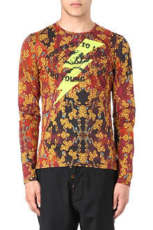 VIVIENNE WESTWOOD Gold chain cloud print top