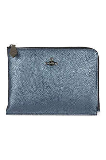 VIVIENNE WESTWOOD Half-zip document case