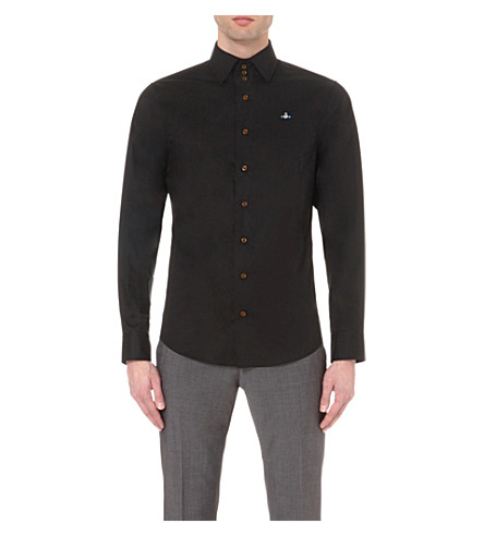 VIVIENNE WESTWOOD Regular-fit three-button cotton shirt (Black