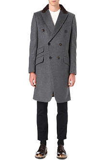 VIVIENNE WESTWOOD Double-breasted cashmere-blend coat