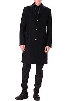 VIVIENNE WESTWOOD Leather-collar overcoat