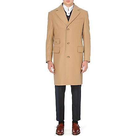 VIVIENNE WESTWOOD Waistcoat-insert melton coat (Camel