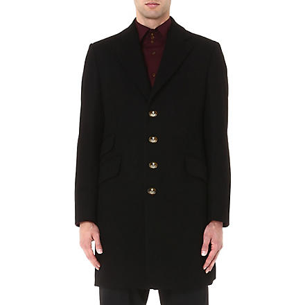 VIVIENNE WESTWOOD Classic melton coat (Black