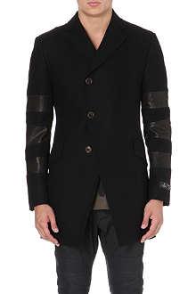 VIVIENNE WESTWOOD Melton leather-panel wool-blend coat
