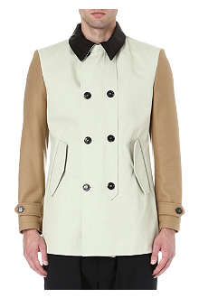 VIVIENNE WESTWOOD Double-breasted colourblocked coat