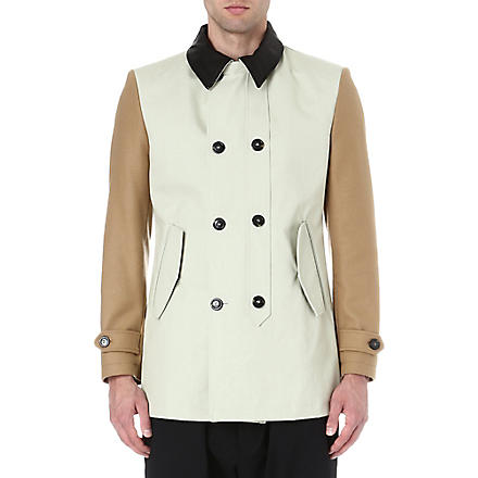 VIVIENNE WESTWOOD Double-breasted colourblocked coat (Camel