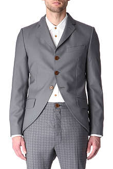 VIVIENNE WESTWOOD Checked-collar blazer