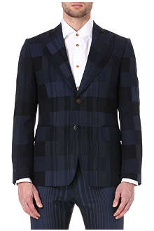 VIVIENNE WESTWOOD Checked single-breasted suit jacket