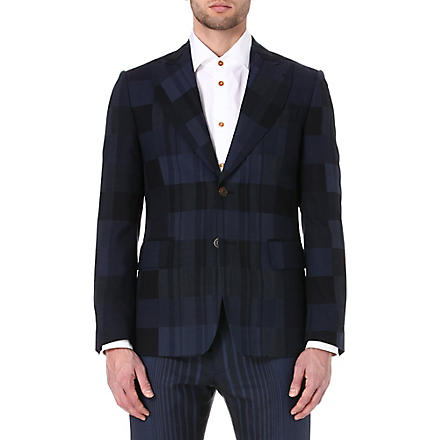 VIVIENNE WESTWOOD Checked single-breasted suit jacket (Blue