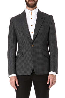 VIVIENNE WESTWOOD Micro-gingham regular slim-fit blazer