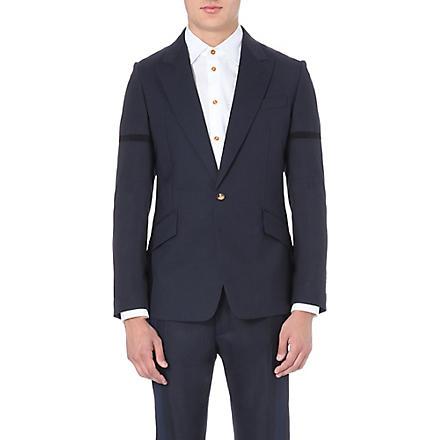 VIVIENNE WESTWOOD Deconstructed wool suit jacket (Navy