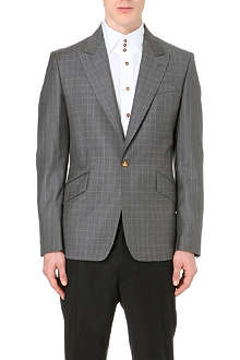 VIVIENNE WESTWOOD Checked peak-lapel blazer