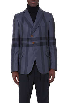 VIVIENNE WESTWOOD Asymmetric checked wool blazer